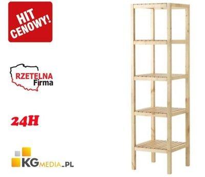 Regal Lazienkowy Drewniany Brzoza Polki 37x37x140 6202435146 Oficjalne Archiwum Allegro Hit