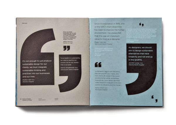 GDC Rapport Annuel \/ Foundry Communications Quotation mark - studio brochure