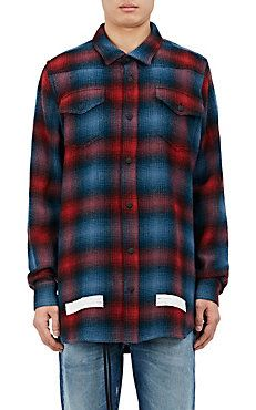 abdd249a40047 Ombré Checked Wool-Cotton Shirt