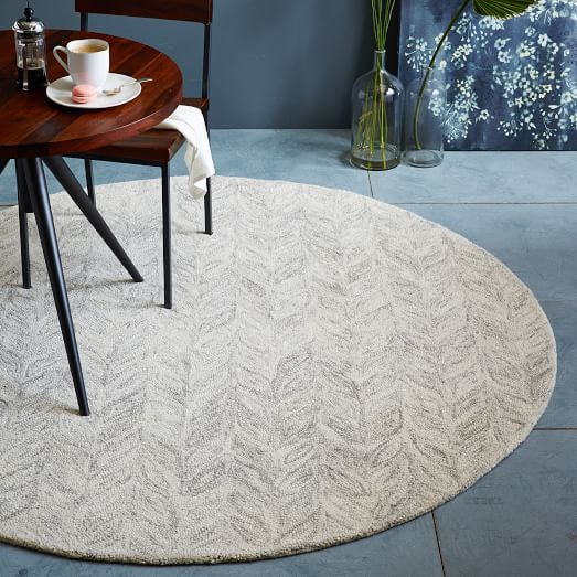 Vines Wool Rug Round West Elm A More Organic Rug With A