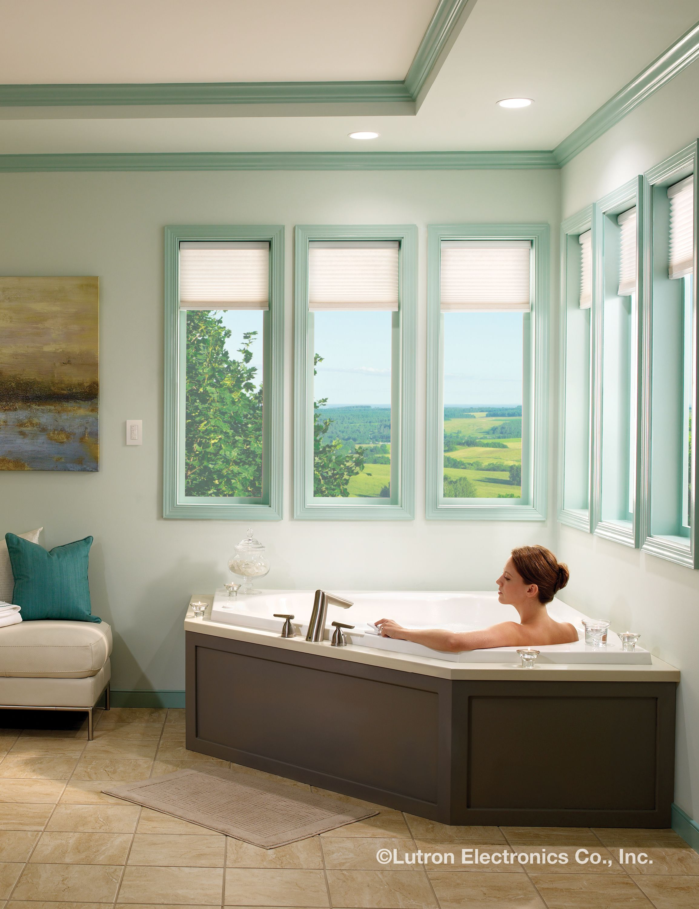 With Serena remote controlled shades, you can easily close shades ...