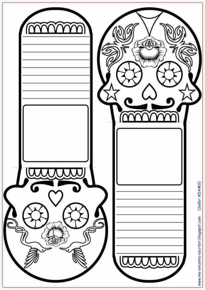 DIA DE LOS MUERTOS/DAY OF THE DEAD~Coloring page | Manualidades para ...