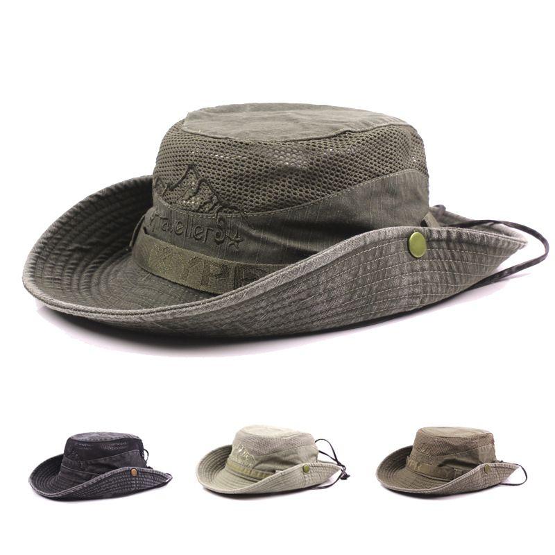 Outdoor Mesh Sunshade Fishing Bucket Hat Cap