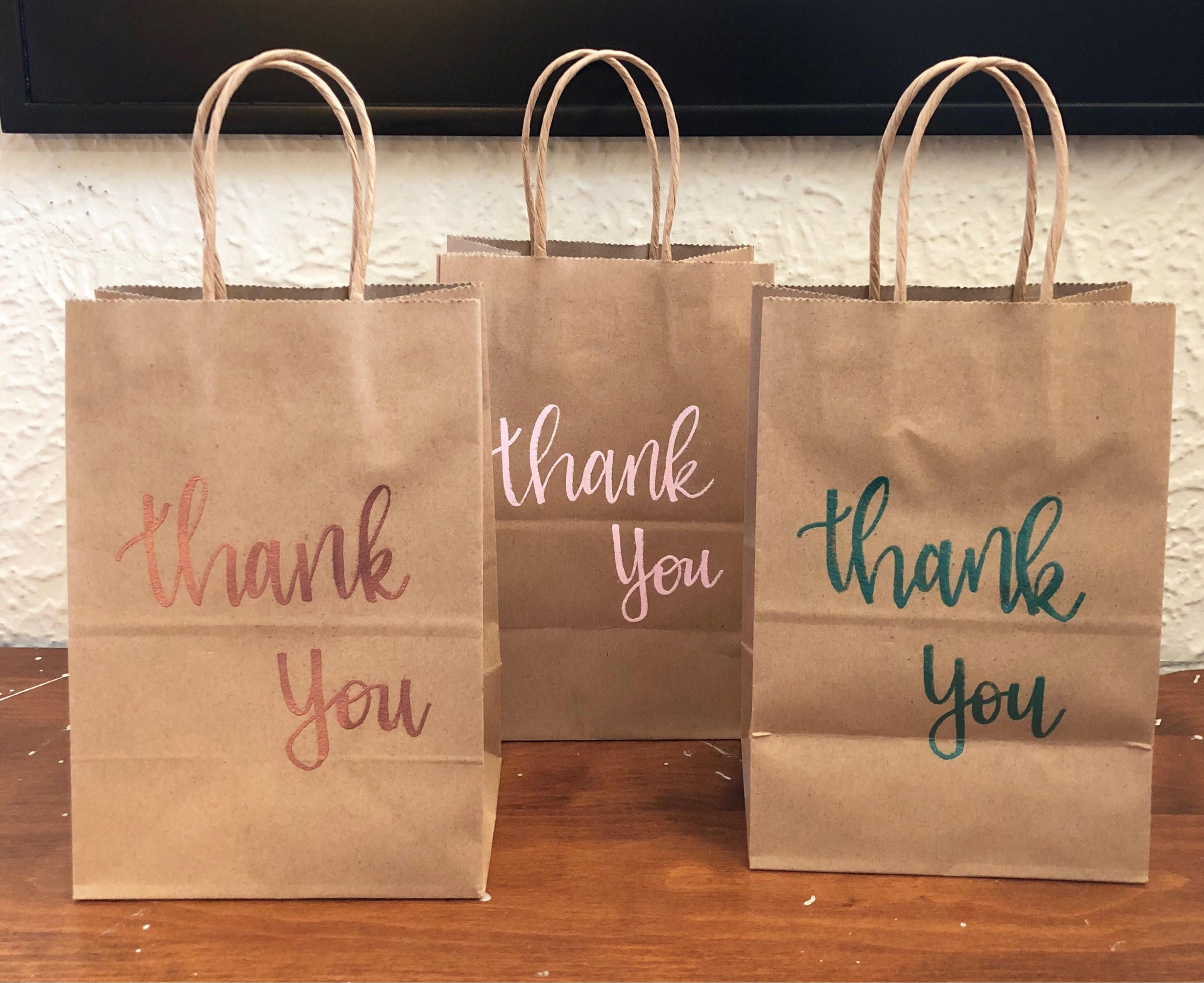 Thank you paper gift bags kraft paper bags party favor bags thank you paper gift bags kraft paper bags party favor bags wedding bags jeuxipadfo Choice Image