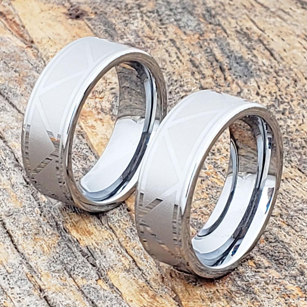 Augustas Mens Tribal Rings Tungsten mens rings