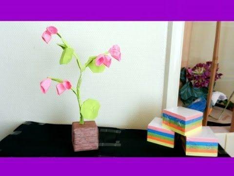 Sticky note origami bonsai origami flower youtube origami sticky note origami bonsai origami flower youtube mightylinksfo