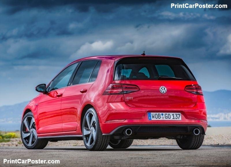 Golf Gti Performance 2017 >> Volkswagen Golf Gti Performance 2017 Poster Vw Golf