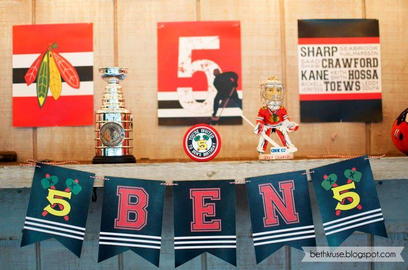 hockey party printables Beth Kruse Custom Creations