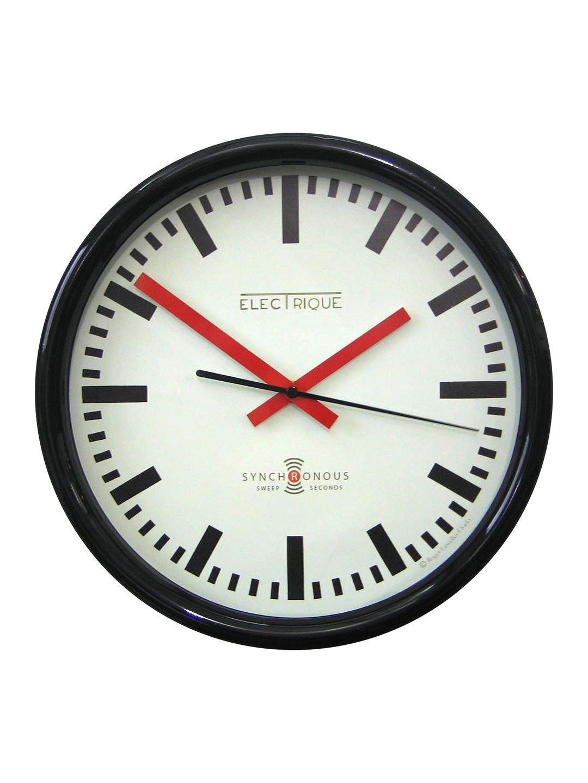 NEWGATE CLOCKS Metro Red Rectangle Retro Analogue Office Kitchen Wall Clock