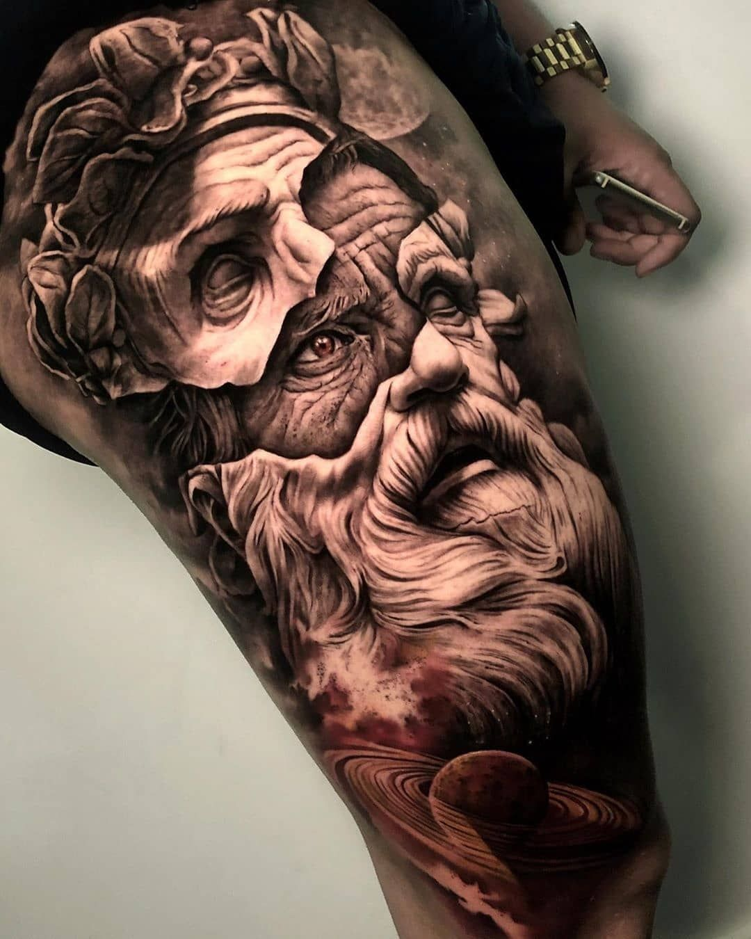 Photo of Kranke schwarze & graue Stücke von @sergiofernandeztattoo! Lage: @seven … #tattoo – Künstler