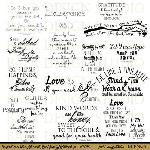 Word Art Printable Quotes Word Art For Mothers Digital Word Art About Beauty