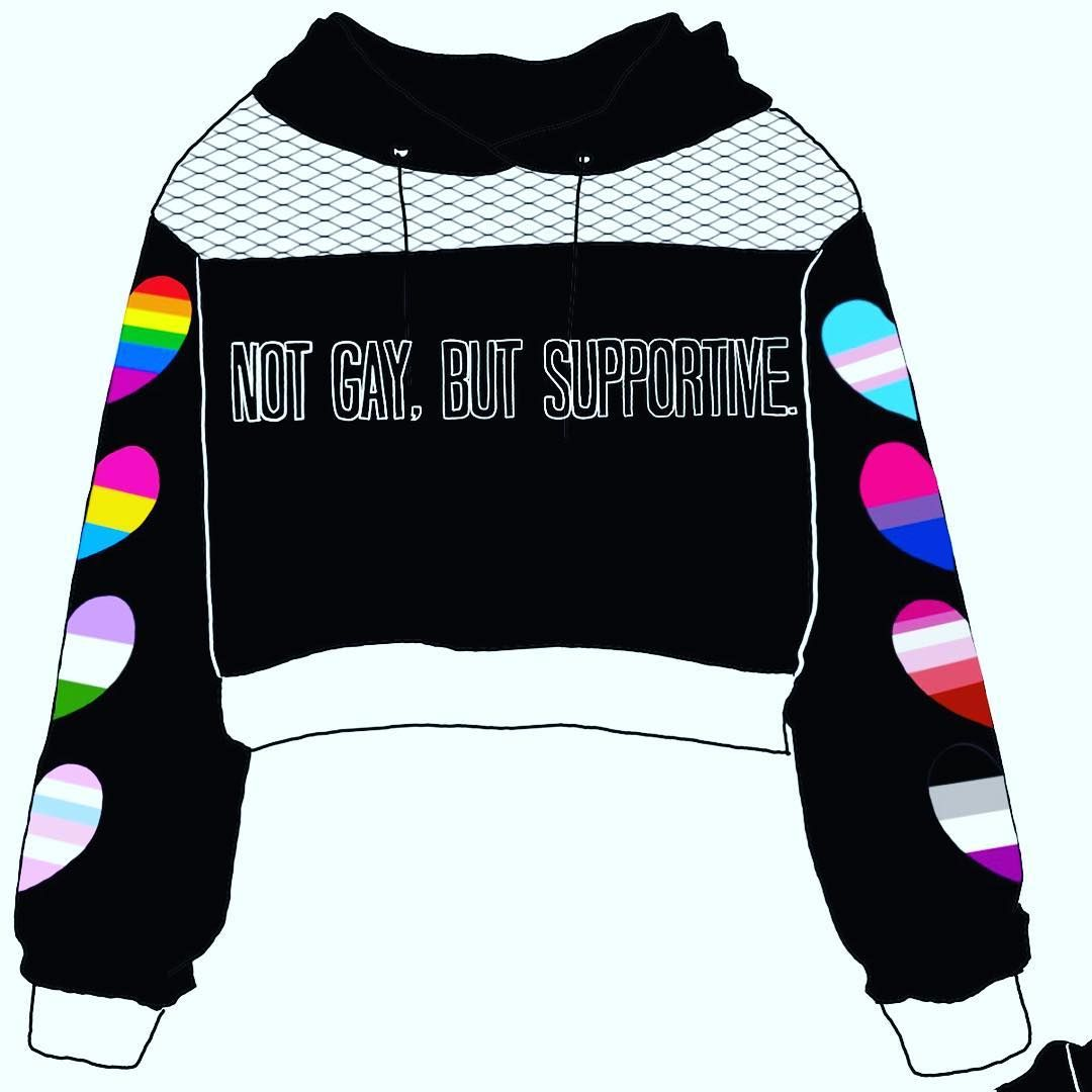 Not Gay But Supportive Dont always have to put labels on things but we can always be supportive of peoples choices and how they live their life. - - There are no rules for love or being a human being. Pride Month is more than just coming out for most its also coming together #pride #pridemonth #pride2018 #pridefashion #gay #notgaybutsupportive #support #love #human #fashion Fashion Fashionable Ideas Party Clothes Makeup Jewelry Trends Trend Trending