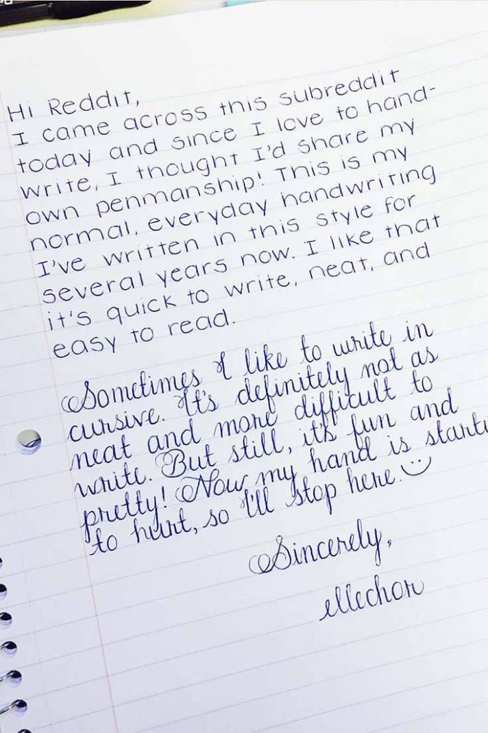 25 Examples Of Perfectly Neat Handwriting