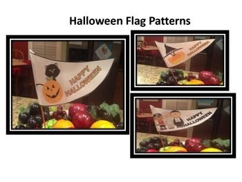 This is a pattern to 3 cute Halloween Flags that you can use to decorate your classroom or hallway during the month of October. Included is a pattern to a colored flag and a black and white outline so that your students can color. The candy corn flag is only available in color.