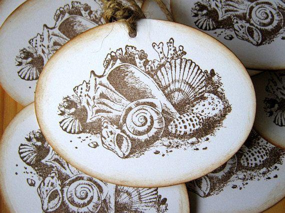 Sea Shell Wedding Wish Tree Gift Tags Seashell Wedding Wedding Wishes Tree Gift