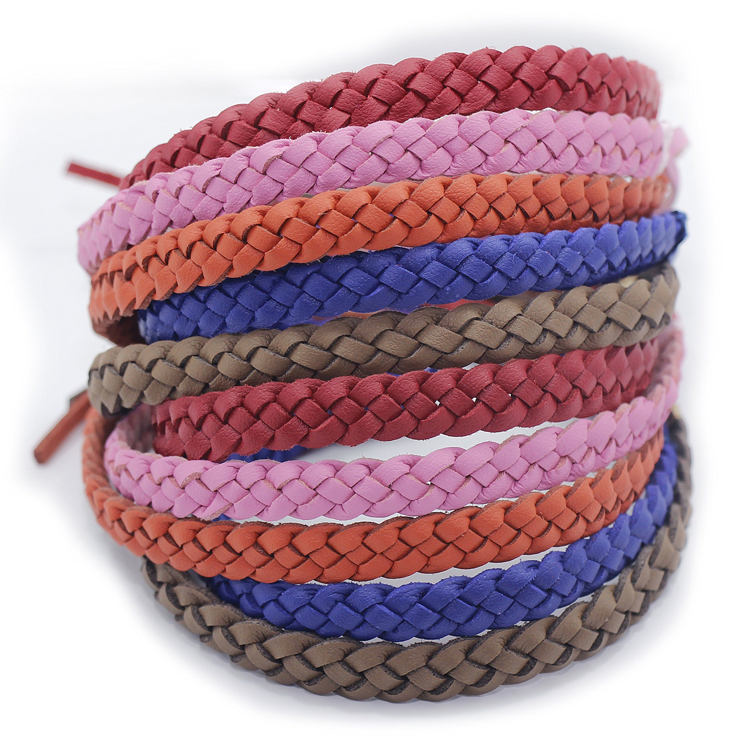 OUTXPRO 10 Mosquito Bug Insect Repellent Leather Bracelets