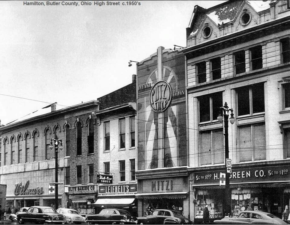 High St In Hamilton Ohio In The Early 1950 S Ohio History Hamilton Pictures Butler County