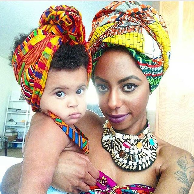 http://www.shorthaircutsforblackwomen.com/natural_hair-products/ Mother and daughter with natural hair- cute black hair wraps.