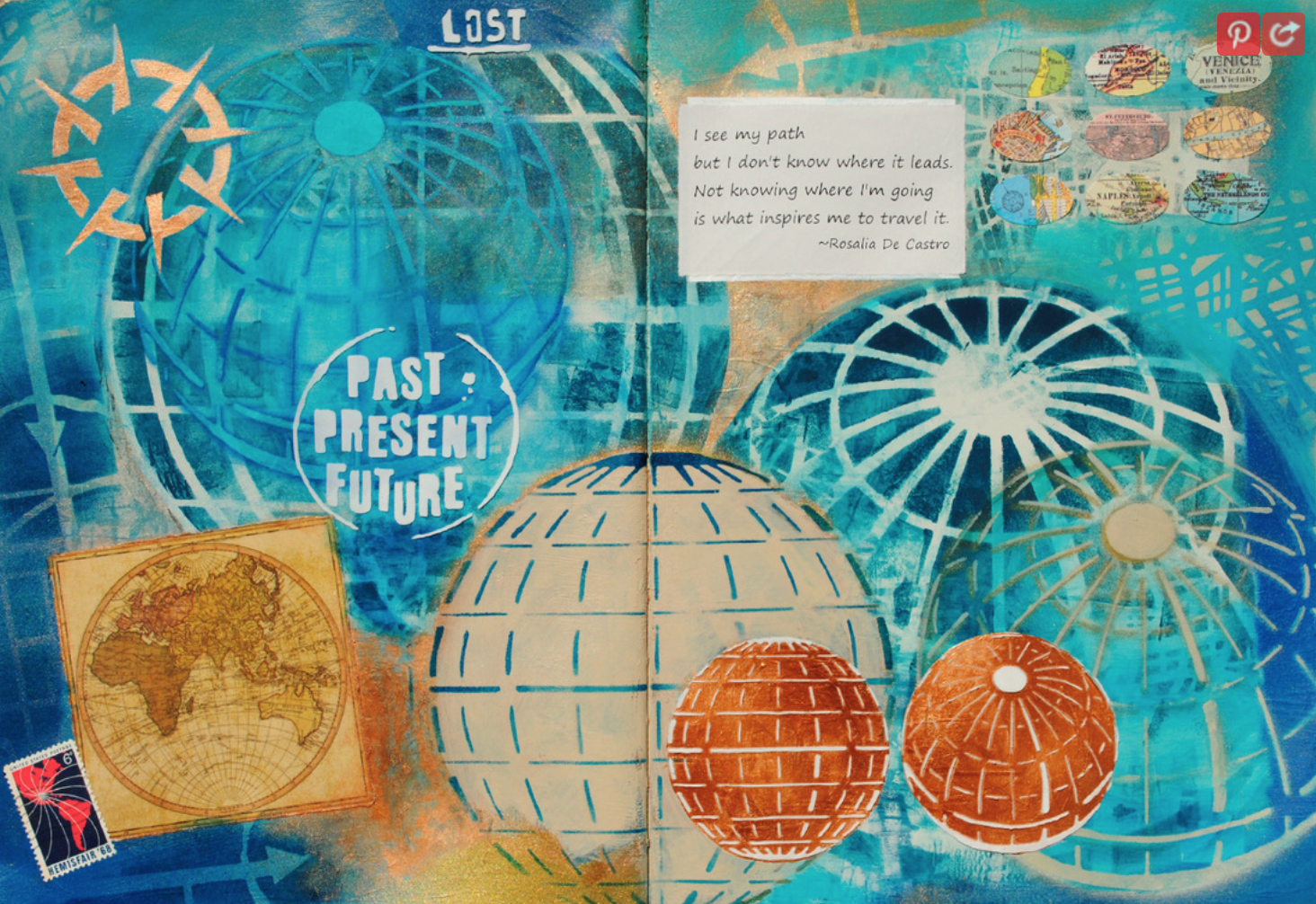 The Altered Page: Vicky Hibbs - Mary C. Nasser (Most of the amazing design in this piece was made using Mary's own stencils). Today I wanted to share with you some of the artwork I have come across since my stencils were released.