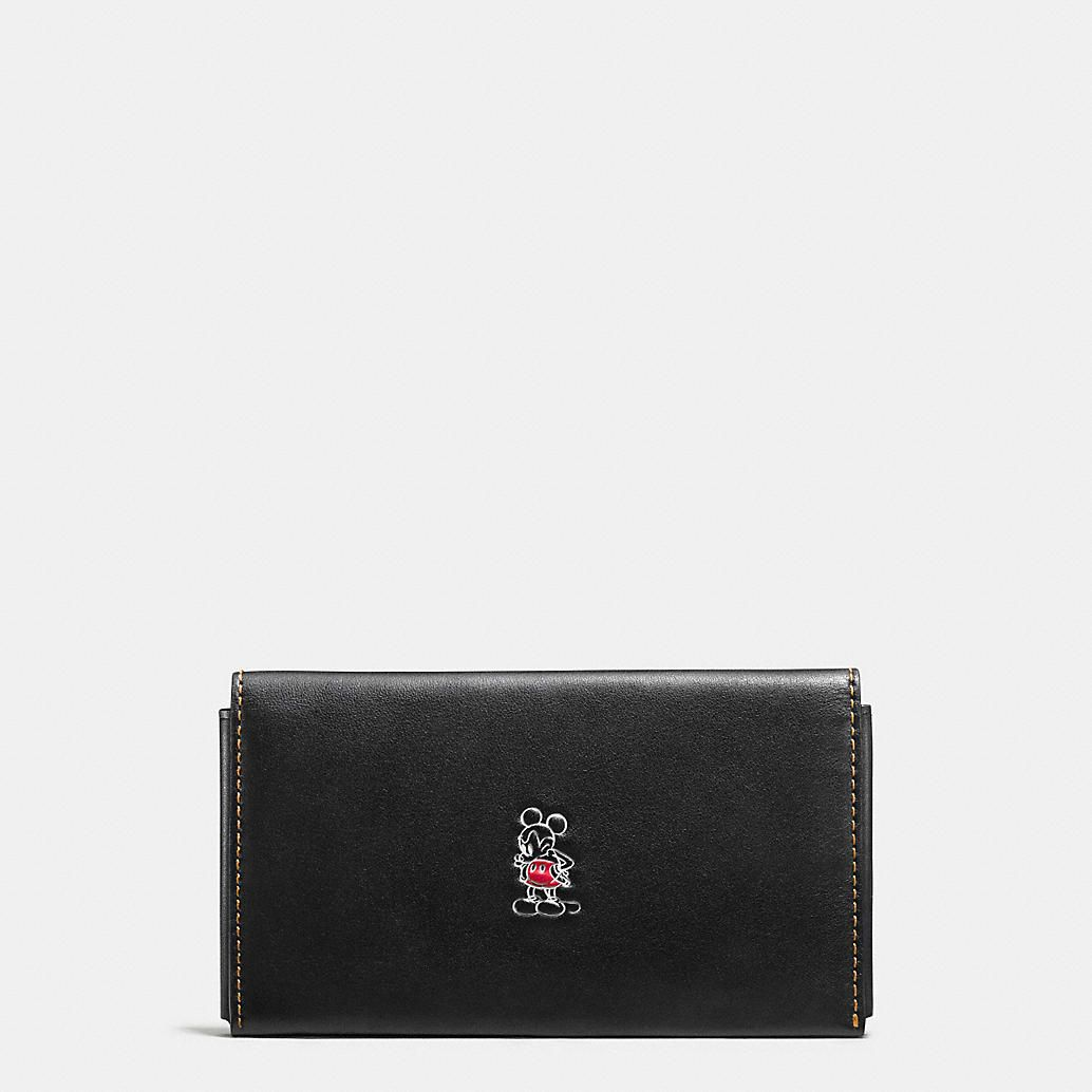 Mickey Phone Wallet in Glovetanned Leather ~ Coach | Mickey Mouse ...
