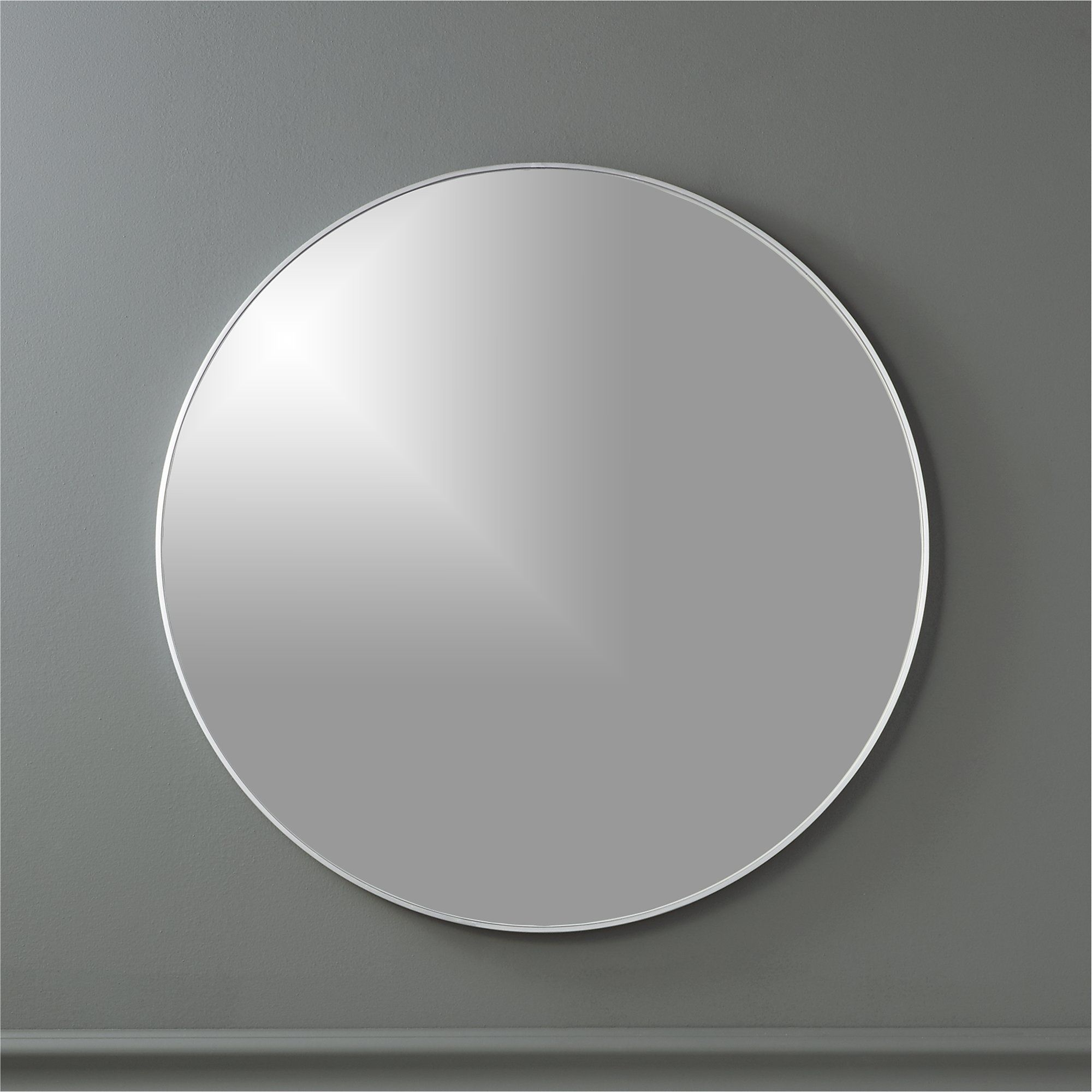 "Infinity Black Round Wall Mirror 24"" + Reviews CB2"