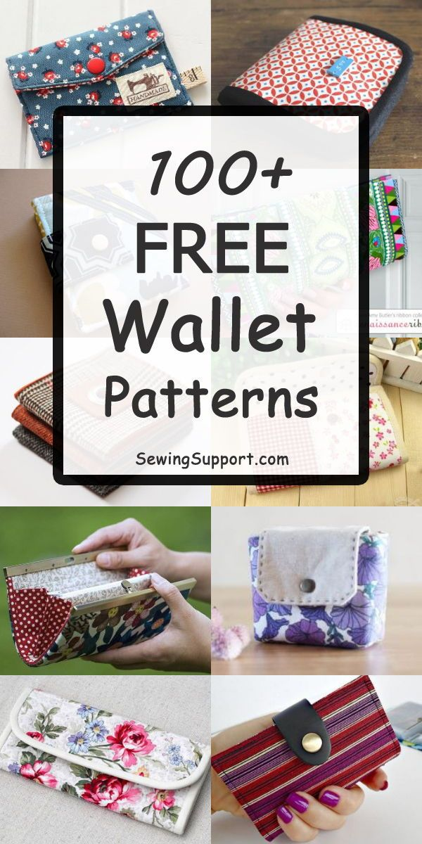 100+ Free Wallet Patterns #beginnersewingprojects