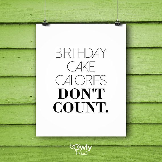 Miraculous Printable Birthday Cake Calories Dont Count Poster By Owlyprint Personalised Birthday Cards Paralily Jamesorg