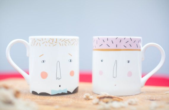 His hers couples mug set anlass valentinstag for Romantische geschenke
