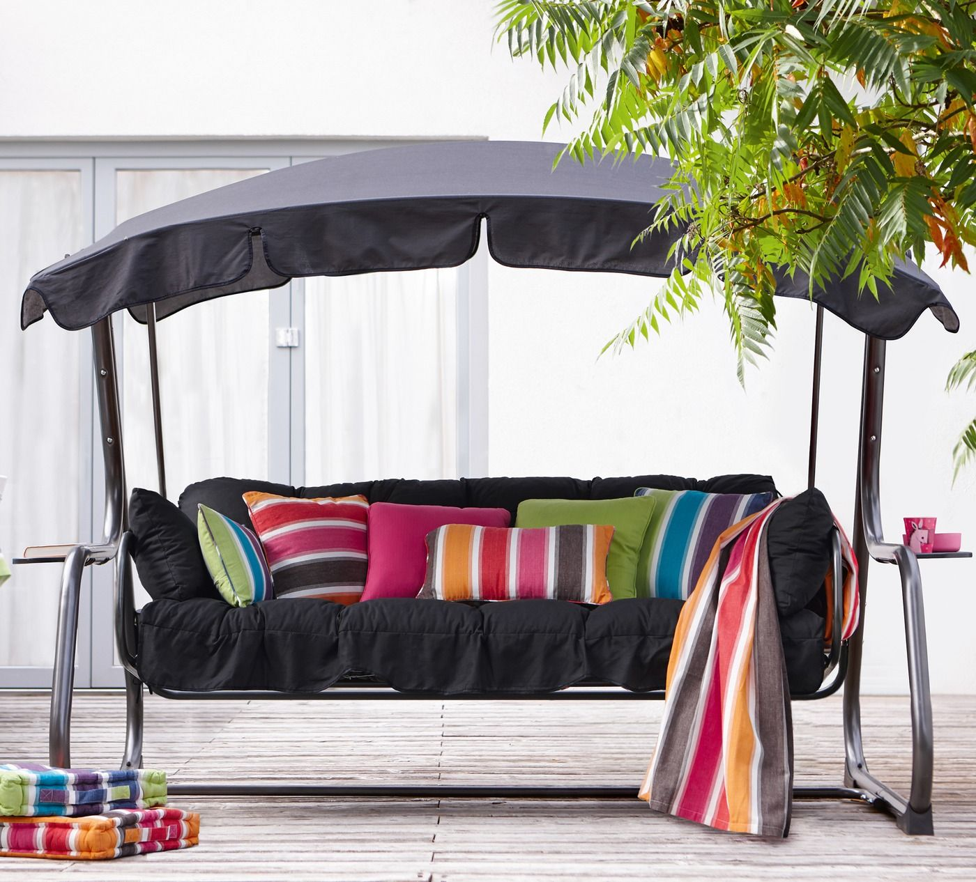 hollywoodschaukel ravenna grau hollywoodschaukel familien und sonstige zubeh r. Black Bedroom Furniture Sets. Home Design Ideas