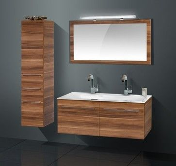 high quality modern bathroom cabinet with walnut finish