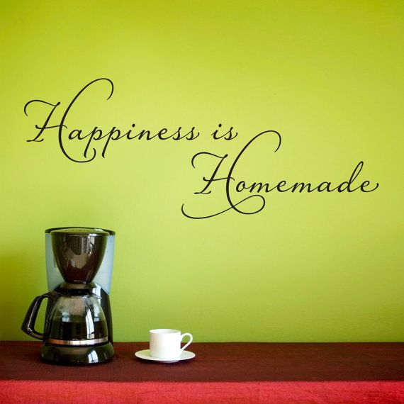 Happiness is Homemade Wall Decal - Kitchen Wall Sticker - Happiness ...