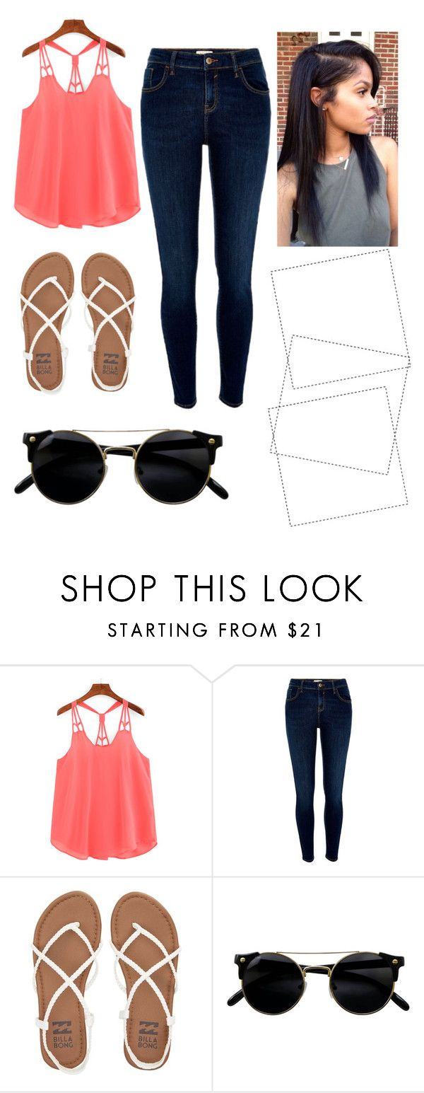 """""""Cute"""" by cali-dreams on Polyvore featuring River Island and Billabong"""
