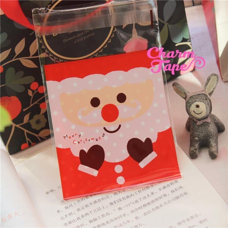 Cute Santa Claus Gift Bags Cello Bags Self-adhesive Cookie bags - Favors Bags - Party bags 20/50 bags CB63