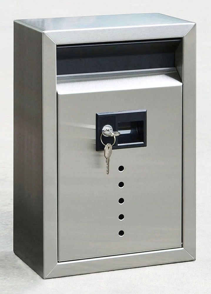 E10 Ecco Large Stainless Steel Locking Mailbox 15 X