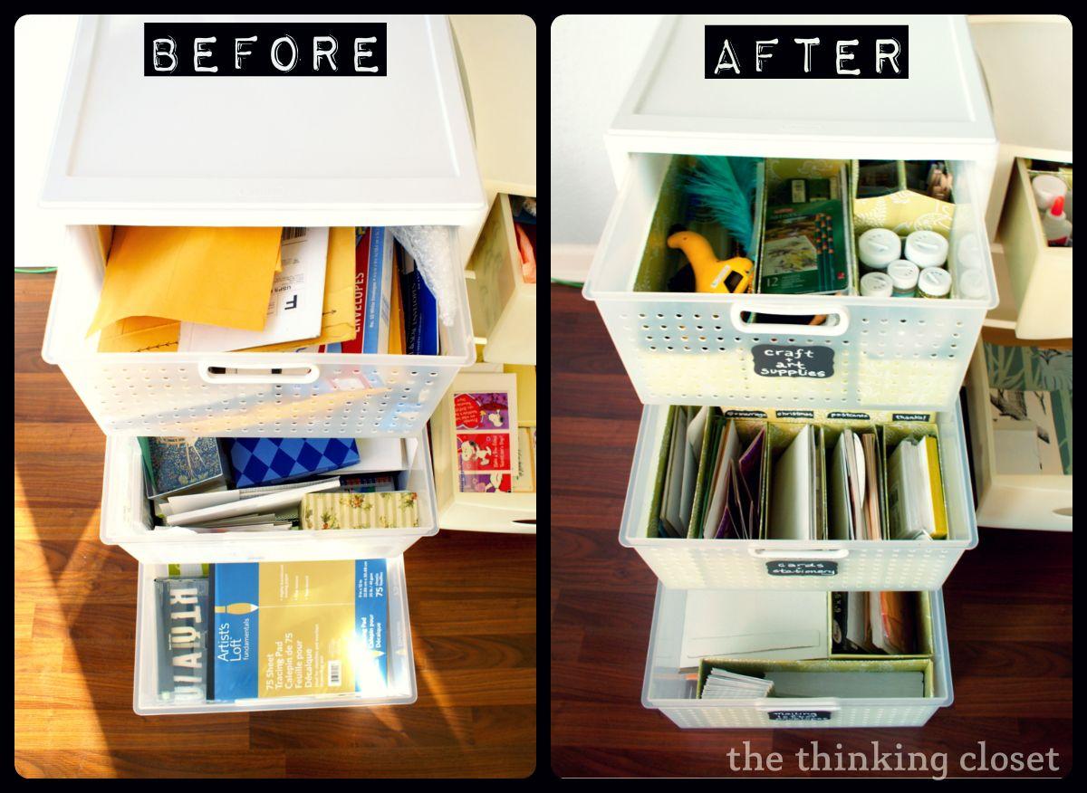 Craft closet organization ideas - Craft Drawer Organization For The Budget Savvy She Lauren