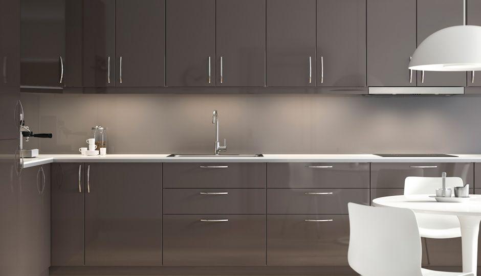 IKEA gray kitchen Kitchen decor Pinterest Gray kitchens