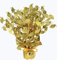 graduation centerpiece gold