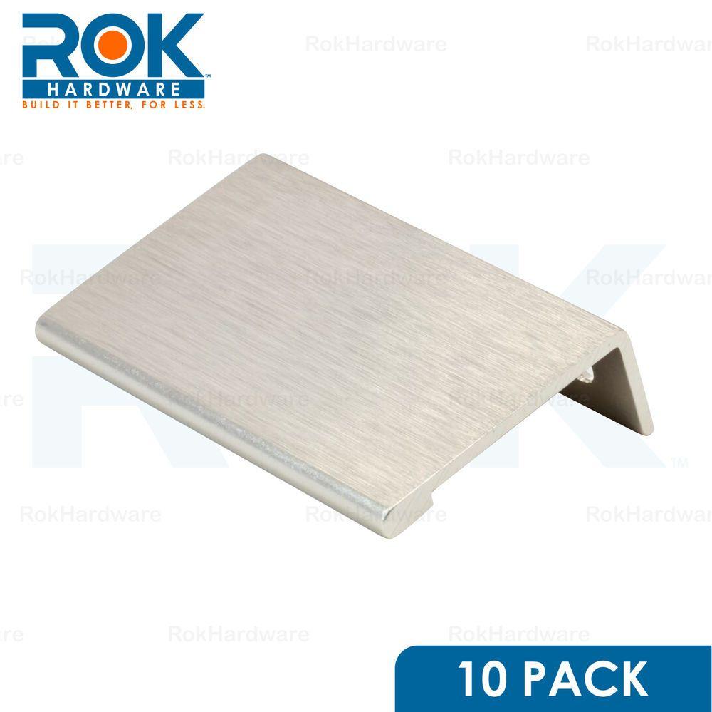 10 PACK ROK 1-31/32  FINGER EDGE PULL STAINLESS STEEL DOOR DRAWER  sc 1 st  Pinterest & 10 pack rok 1-31/32