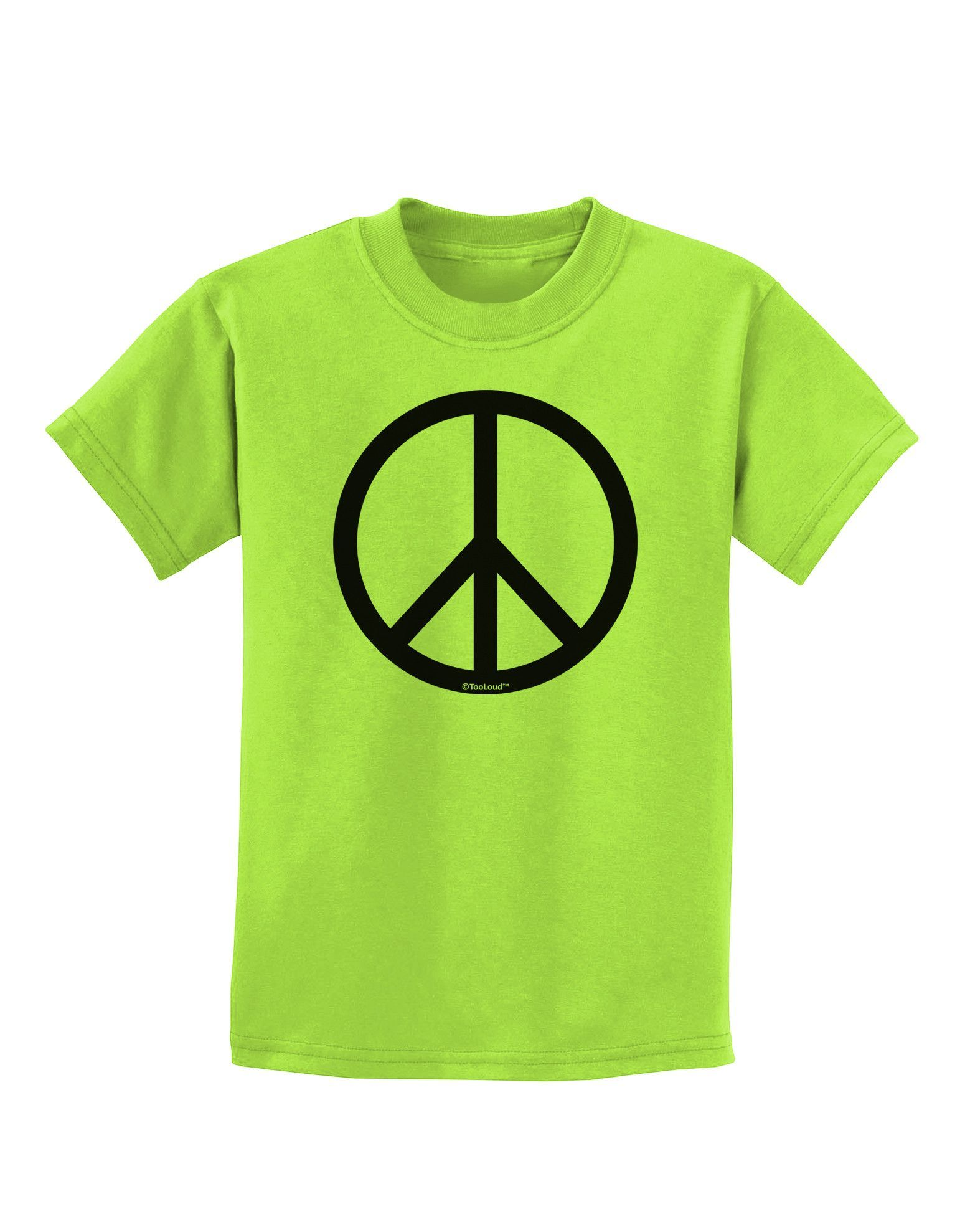 TooLoud Peace Sign Symbol Childrens T-Shirt