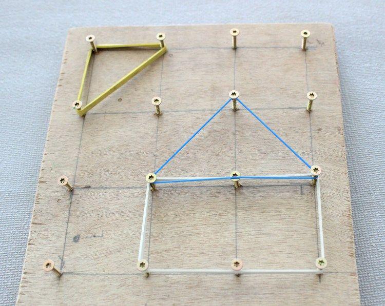 diy werken mit kindern geometriebrett lifestylemommy kita pinterest werken mit. Black Bedroom Furniture Sets. Home Design Ideas