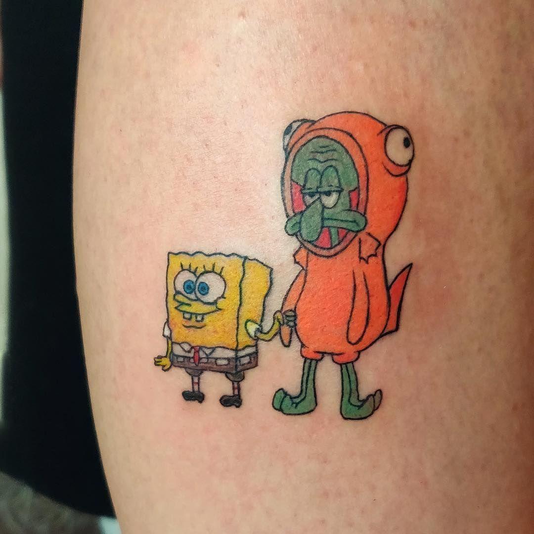Pin By Ttttttaylorr On Tattoos Spongebob Tattoo Cartoon Tattoos Tattoos