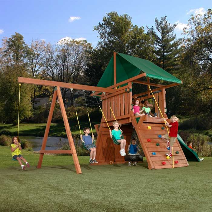 How To Make An Outdoor Play Sets For Your Kids Tips Pouted Com Playset Outdoor Backyard Playset Swing And Slide