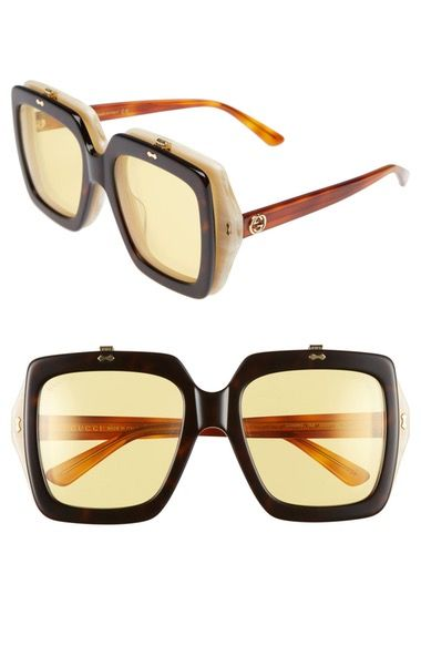 9405efb7657 GUCCI 55mm Flip-Up Sunglasses.  gucci