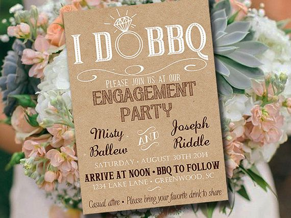 Engagement party invitations | etsy.