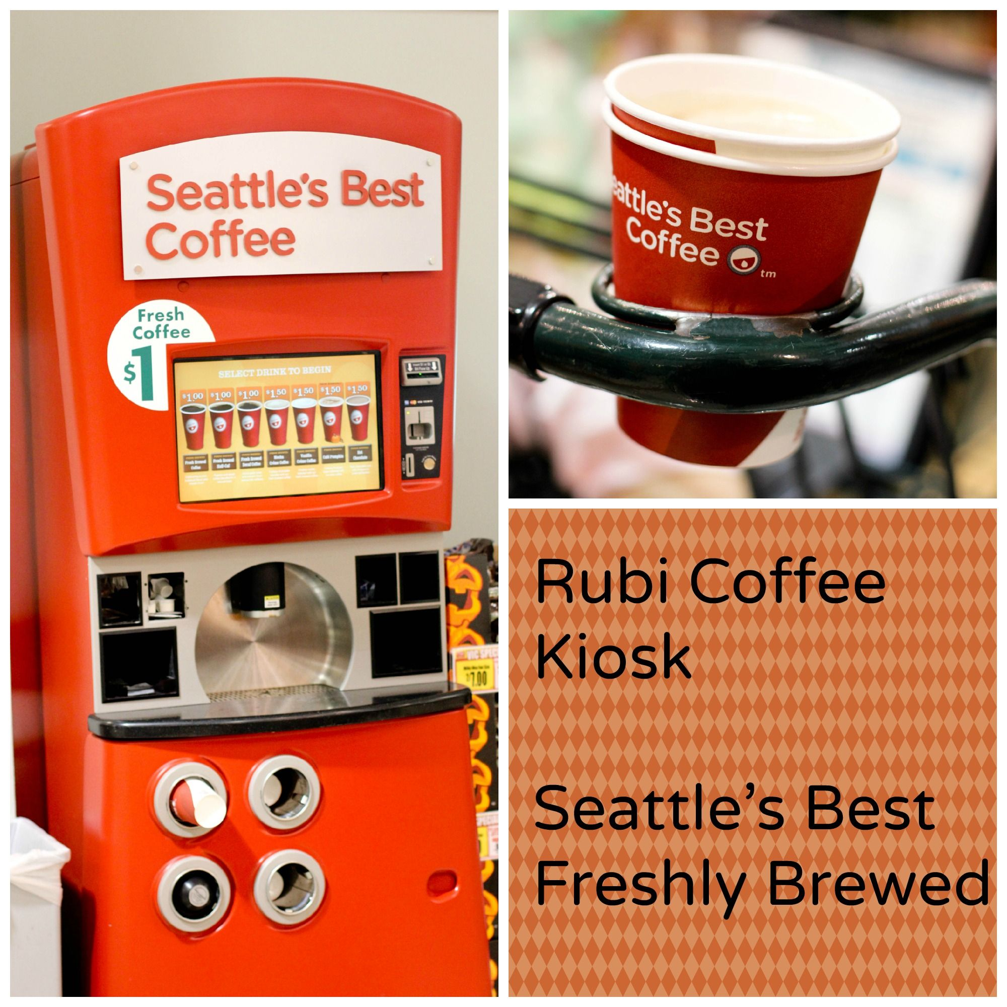 Delicious coffee at the seattles best kiosk quick and