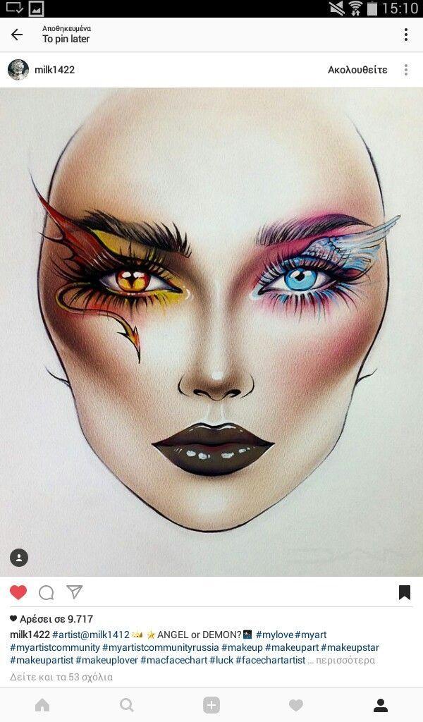 Halloween Makeup Devil And Angel.Devil Eye Makeup Design Saubhaya Makeup