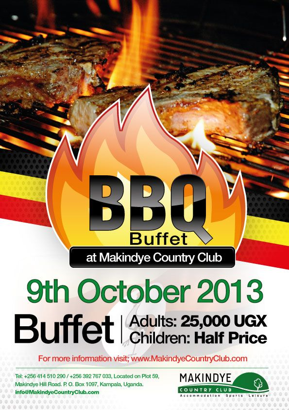 Makindye Country Club Independence Day BBQ Buffet Graghic - bbq flyer