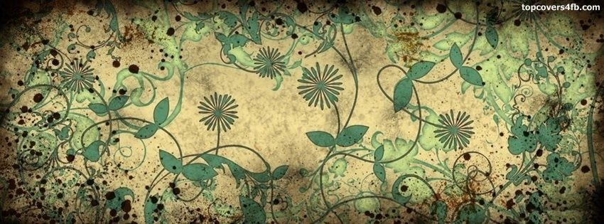 Flowers Leaves Design Facebook Google Plus Tumblr Twitter covers