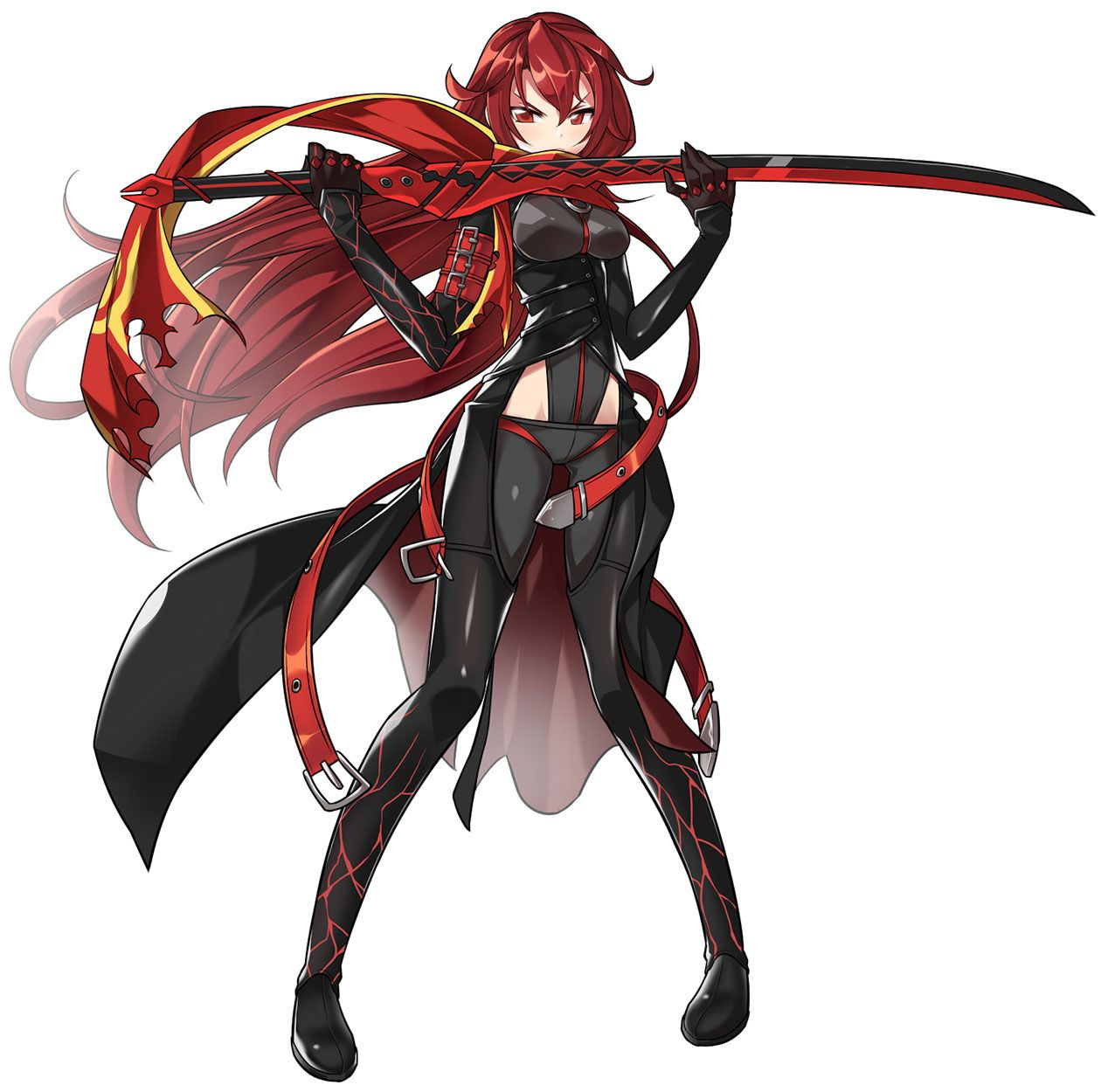 Dark Knight from Elsword  Elsword anime, Red hair anime