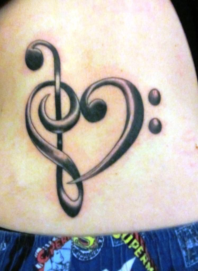 Image of: Treble Clef Tattoo Ideas | My Music Is Power | Music ...